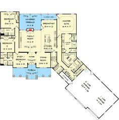 plan 36075dk craftsman house plan with 3 car angled garage