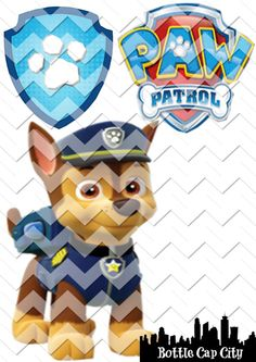 Paw Patrol Printable Shirt Iron On Instant Download CHASE