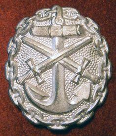 WWI Silver German Naval Wound Badge