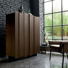 Dark wood, luxury and unique design for 'Chris' sideboard. Wooden piece, perfect for every room. My Italian Living.