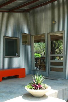 Metal siding - modern exterior by Nick Deaver Architect Design Exterior, Exterior Siding, Modern Exterior, Tin Siding, Metal Building Homes, Metal Homes, Building A House, Steel Siding, Quonset Hut