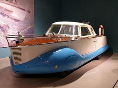 Fiat 1100 Boat-Car Carrozzeria Coriasco 1953 bicolor vr |