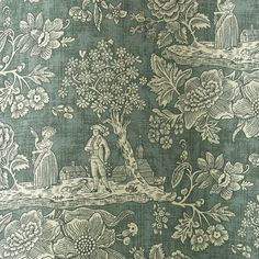 Cecelia is a simple toile that depicts a serence and bucolic scene in white. Printed on a bottle green background on a natural linen cloth. Order your sample of Jean Monro curtain fabric today! Leaf Design, Floral Design, Curtain Fabric, Curtains, Curtain Designs, Sheer Fabrics, Green Backgrounds, Bird Prints, Natural Linen