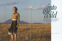 LARA KLAWIKOWSKI skirt in the November issue of ELLE South Africa