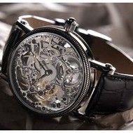 YVES CAMANI Jules Skelett Black Skeleton, Watches, Men, Accessories, Black, Black People, Clocks, Skeletons, Clock