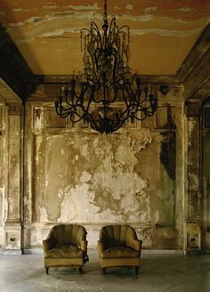 Interiors of a Cuban building... the faded beauty of a Grande Dame...  the patina of years of decay and neglect... imagery  that reflects Cuba's elegance and stoicism. Michael Eastman, photographer.