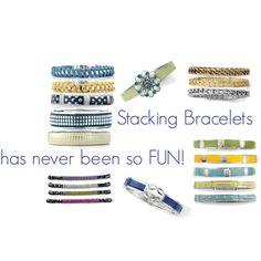 Stacking Bracelets so many choices, so much color!!  liasophia.com/jessieleon