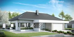 Find home projects from professionals for ideas & inspiration. Projekt domu HomeKONCEPT 38 by HomeKONCEPT Home Building Design, Home Design Plans, Building A House, Modern Family House, Modern House Plans, Bungalow House Design, Modern House Design, House Design Pictures, New Home Designs