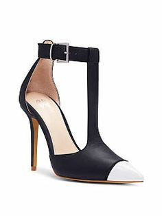 Pointed T-Strap Pump