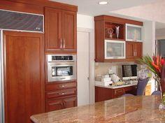 KraftMaid Cherry Kitchen Cabinets | KraftMaid Kendrick Cherry Cinnamon contemporary-kitchen