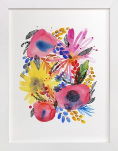 Great Easter Gifts under $50 - Minted Art - Flowers by Alexandra Dzh at minted.com