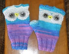 Lovely Owl Wrist Warmers FINGERLESS GLOVES  by FASHIONABLEINFANT
