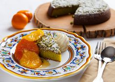 Recipe for Pistachio Torta with Honeyed Oranges from Viking Ocean Cruises