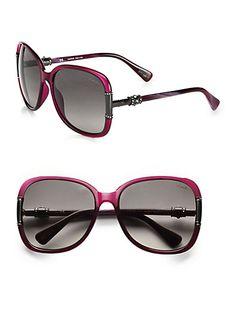 Lanvin - Swarovski Crystal & Oversized Square Butterfly Sunglasses