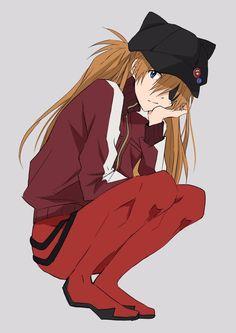 Neon Genesis Evangelion, Asuka Langley Soryu, Rei Ayanami, Mecha Anime, Anime Art Girl, Me Me Me Anime, Anime Manga, Anime Characters, Character Art