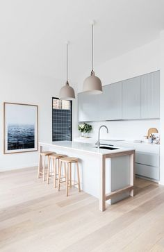 Bright white and grey kitchen