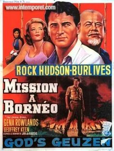 The Spiral Road Movie Poster #RockHudson #BurlIves #GinaRowland