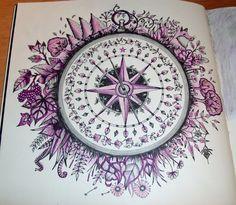 Aus dem Heft Lost Ocean, von Johanna Basford mit Stabilo Fine-liner 0,3 und Ergo soft farben gemalt