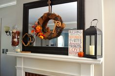 Fall Home Mantle Decor