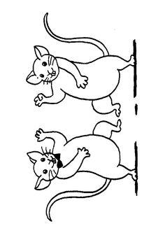 Dessin de deux souris qui dansent, à colorier