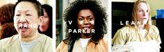 Chang x Parker x Taylor #oitnb #orangeisthenewblack