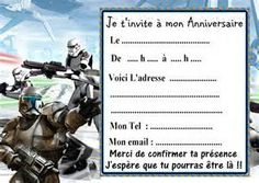 cartes invitation anniversaire star wars 010 dautres en vente - Carte Anniversaire Star Wars Imprimer