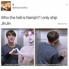 "3,060 Likes, 29 Comments - A crow-tit (@btstitaenium) on Instagram: ""Wuat is a namjin?"""