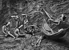 Palm leaves hut - Zoe tribe Brazil -  by Sebastiao Salgado