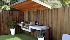 Whispered Bbq Area Ideas Secrets fine Remember how much storage you'll need for your kitchen. Where you choose to place your outdoor kitchen is dependent on many factors. An outdoor kitche. Modular Outdoor Kitchens, Outdoor Barbeque, Outdoor Kitchen Patio, Outdoor Kitchen Design, Outdoor Grill Area, Diy Bbq Area, Backyard Patio Designs, Backyard Bbq, Built In Bbq