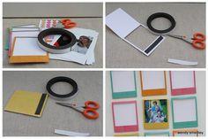 paper polariod frames - DIY to make magnets
