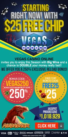 Among the range of offers available, you receive a $30 free chip bonus. This is our exclusive offer for new players. Players from the USA and Canada welcome. No bonus code needed. It's super easy! Just Download the casino software or log in through the Instant play. Then, redeem your Coupon Code (if any) at the cashier prior to making your deposit. Your Bonus Code can be also redeemed after your deposit is paid, but only if you have not started to play on any game. Best Online Casino, Online Casino Bonus, Best Casino, Money Games, Vegas Casino, Online Invitations, Free Money, Super Easy, Software
