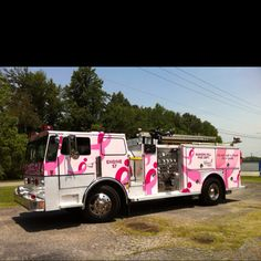 Pink Fire Engine for Breast Cancer