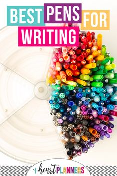 Planner girls love writing with the best pens. We've done a round up of dozens of pens and written with them all so we can tell which pens are best for writing in your planner!