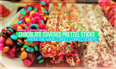 2181. Chocolate covered pretzel sticks from the main street confectionery