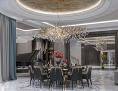 Modern Design, Dining Chairs, Chandelier, Ceiling Lights, Lighting, Home Decor, Candelabra, Decoration Home, Room Decor