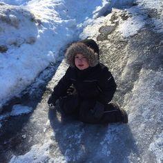 9 Fahrenheit feels like -6F and he wants to play cars outside