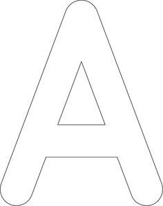 """A"" stencil from Rapid Resizer's free stencil maker: http://RapidResizer.com/stencil"