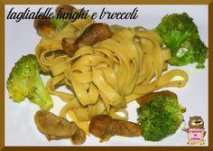 taglitelle funghi e broccolo primo piatto