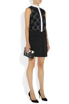 Victoria, Victoria Beckham|Organza and cotton-blend mini dress|NET-A-PORTER.COM