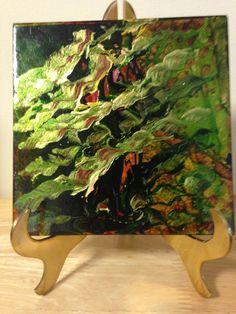 Original Handpainted Art Tile - pinned by pin4etsy.com