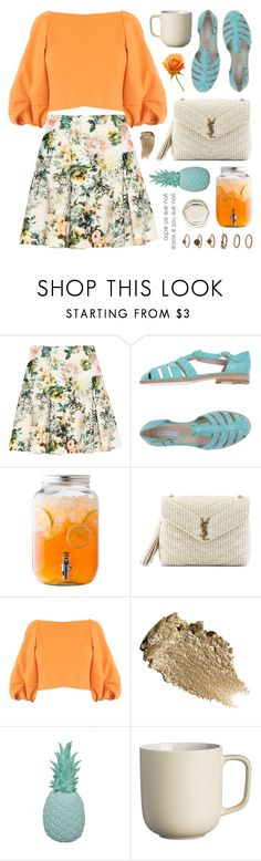 """""""5 days left to join (view description)"""" by jesuisunlapin ❤ liked on Polyvore featuring Pull&Bear, Rêve D'un Jour, Yves Saint Laurent, TIBI, Ananas, Price & Kensington, BDB, Forever 21, croptop and raffia"""