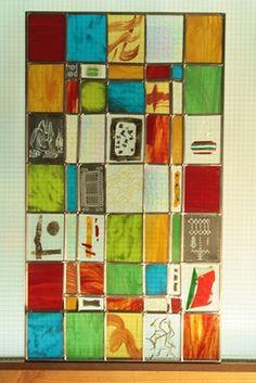 Vitrail contemporain | Vitraux modernes | Miroir | Art Deco - Le Verre de Voute, vitraux d'art à Longchaumois, Jura