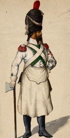 Zappatore della fanteria di linea italiana