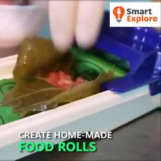 Vegetable & Meat Roller 😍 With its simple, one-motion operation the Vegetable & Meat Roller makes it easy to prepare deliciou Kitchen Supplies, Kitchen Hacks, Kitchen Tools, Kitchen Gadgets, Kitchen Ideas, Chopping Board Colours, Diy Household Tips, How To Wash Vegetables, Cool Inventions