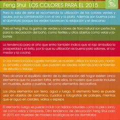 El Feng Shui los colores para el 2015