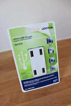 Driven By Décor: Turns and outlet into a USB charging station!