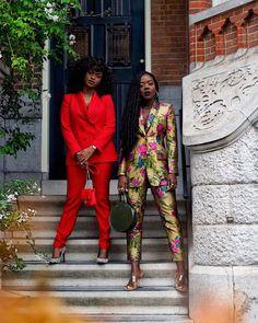 Just 2 African peas in a Dutch pod. Black Girl Fashion, New Fashion, Winter Fashion, Fashion Looks, Fashion Outfits, Womens Fashion, Jeans Fashion, Black Girl Swag, Elle Fashion
