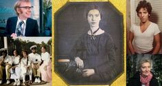 Best books of 2016: Dennis Potter, Emily Dickinson, Bruce Springsteen, Tsar Nicholas II and his daughters, and Elizabeth Strout. Photographs: BBC, Amherst College via NYT, Sony Music, Heritage/Getty, Todd Heisler/NYT