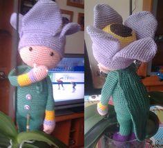 Tulip Theo doll made by Jose B - crochet pattern by Zabbez