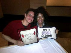 #TBT Dec 2, 2014 #marchofdimes  fundraiser event #opportuniteas with cast of #youngandtherestless the following is #selfie  with @christianleblanc (Micheal  Baldwin ) #feridiva #tvstar #soapopera #celebrity #charity #pillows are from the set that I bought in proceeds to the cause  www.gwtcorp.com/robinson